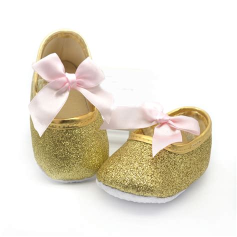 2015 gold baby shoes princess walkers bling pink