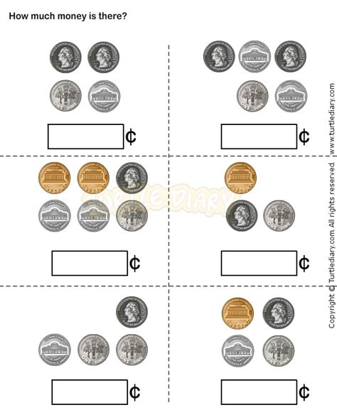 kindergarten activities coins 29 best images about money worksheets for kids on pinterest
