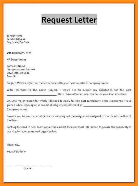 request letter for brand promotion 10 simple request letter mystock clerk
