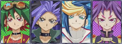 shonen hairstyles file yuya and his counterparts png yu gi oh fandom