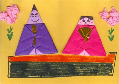Origami Paper Substitute - japan society origami hina doll