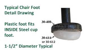patio table legs replacement parts and glides for patio furniture tables and chairs