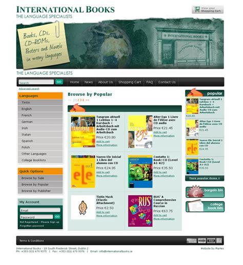 website layout design books international books bookstore ecommerce website web