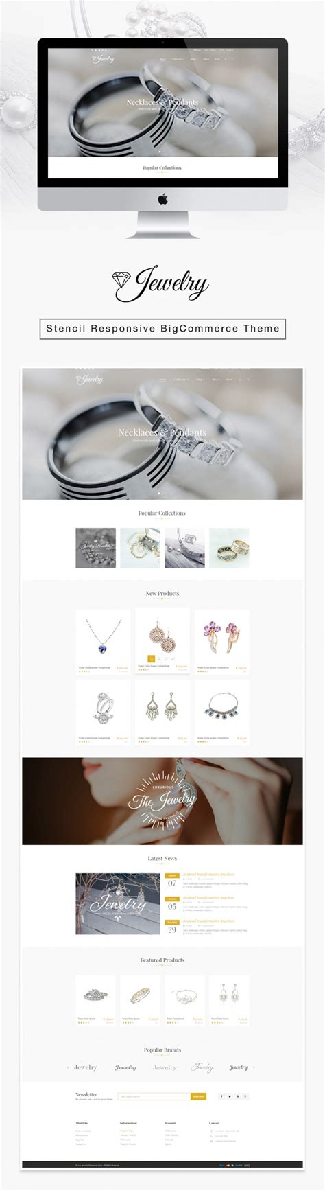 Jewelry Responsive Parallax Bigcommerce Theme Stencil Framework By Tvlgiao Bigcommerce Stencil Templates