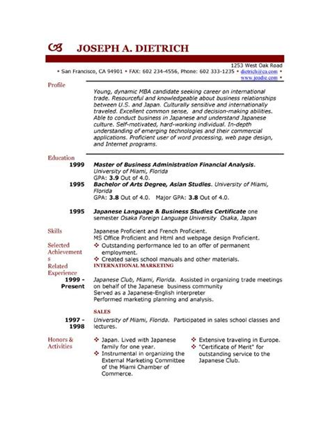 sle resume templates free download