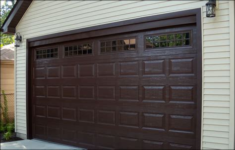 Brown Garage Door by Forest Garage Doors Chicago Raised Panel Steel Garage