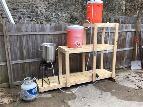 home brewing system plans diy wednesday brew stands homebrewing beer makes me