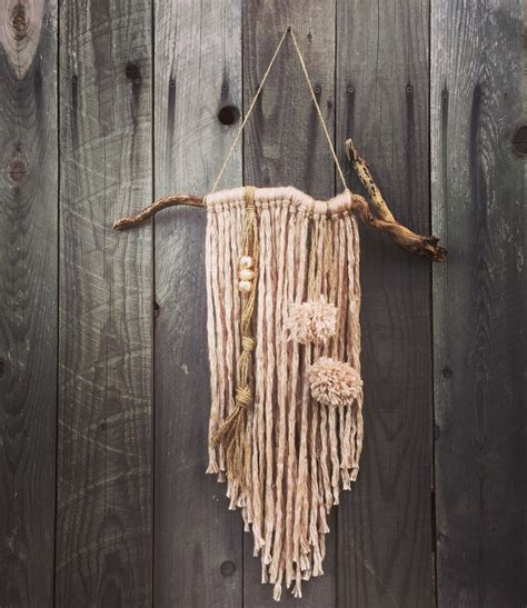 boho yarn wall hanging home decor tassel wind chime yarn home