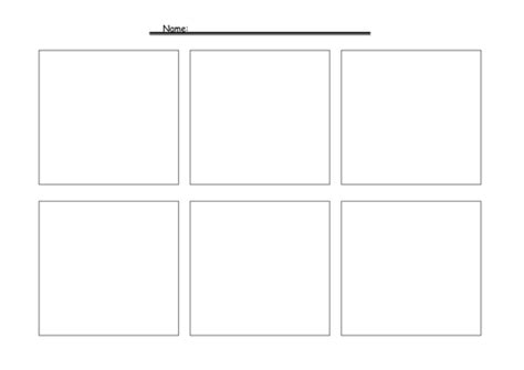 Comic Strip Template By Jimbob37 Teaching Resources Tes Comic Frame Template