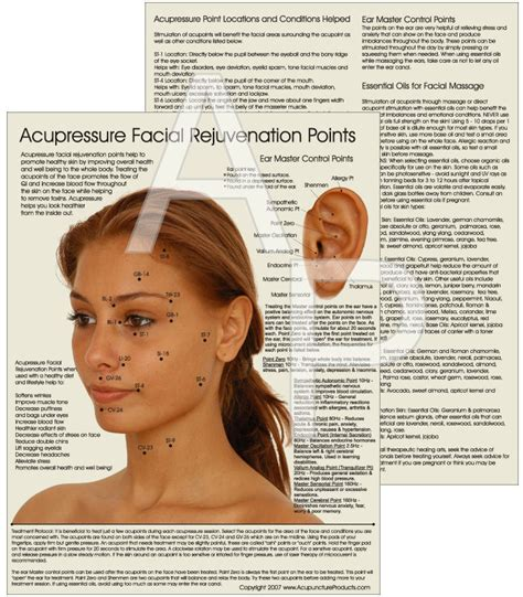 acupressure points for healthy skin facial acupressure acupressure facial rejuvenation points chart