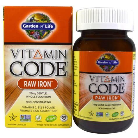 Vitamin Code Garden Of by Garden Of Vitamin Code Iron 30 Vegan Caps