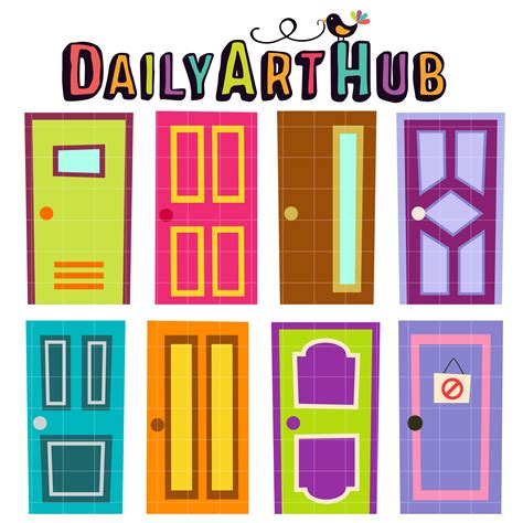 Monster High Bedroom Sets quirky doors clip art set daily art hub free clip art