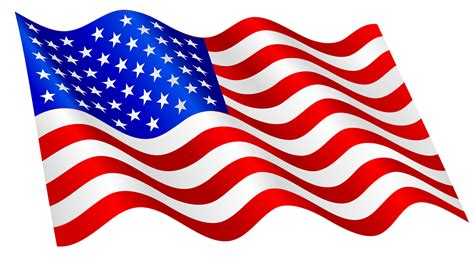 flowing american flag clipart clipground
