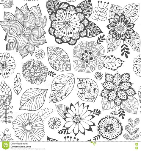 svg pattern not showing vector flower pattern black and white seamless botanic