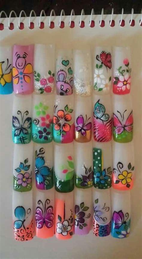 decorados de uñas de flores y mariposas 17 mejores ideas sobre dise 241 os de u 241 as elegantes en