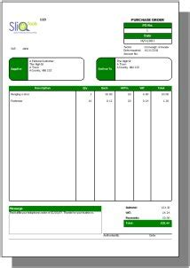 purchase order templates purchase order exles