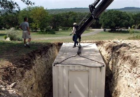 How To Build A Bunker In Your Backyard by How To Build An Underground Shelter With A Shipping