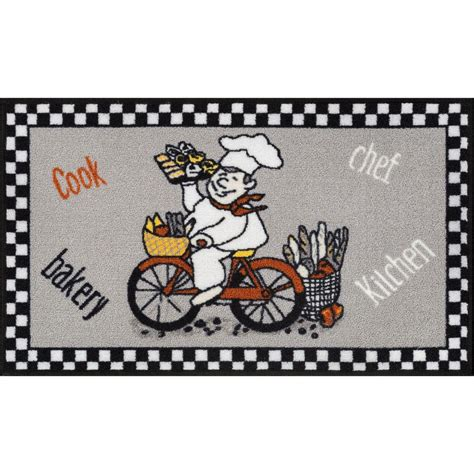 Kitchen Rug 3 X 4 Well Woven Court Fresh Delivery Grey 3 Ft 3 In X 4