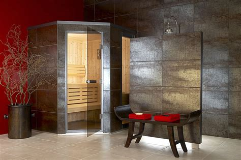 fabulous home decoration accessories feat indoor corner modern sauna design ideas for corner bathroom with