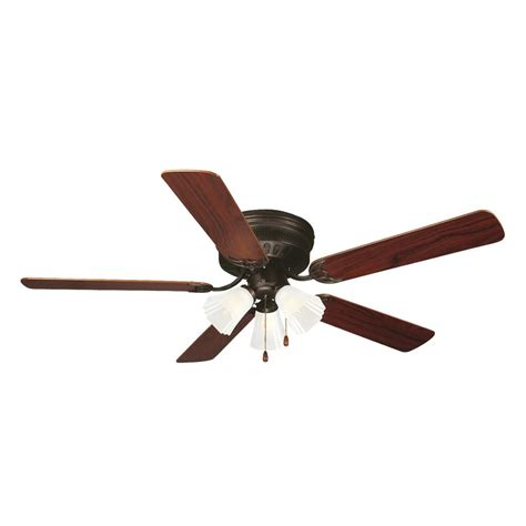 home depot hugger ceiling fans design house millbridge 52 in oil rubbed bronze hugger