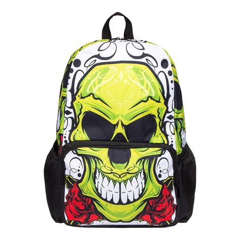 blue banana green skull black backpack fashion backpacks