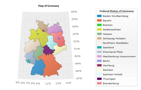 regions of germany map map of regions of germany images