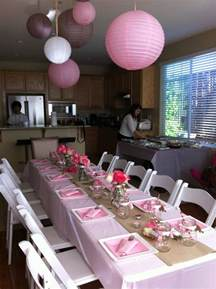 Baby Shower Table Decorations by Juna S Baby Shower Table Setting Theme Pink Tan White