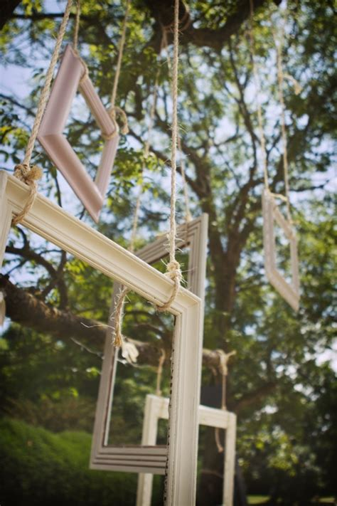 outdoor tree frame photo booth ideas wedding picnic lawn