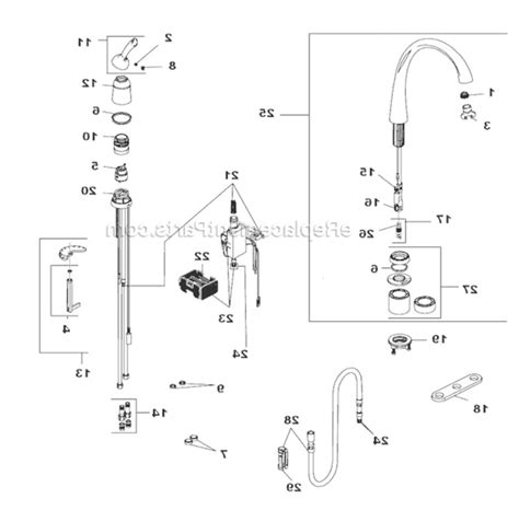 Delta Kitchen Faucet Parts Diagram by Old Faucet Repair Parts Delta Shower Diagrams Monitor