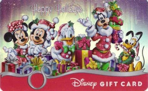 Walt Disney World Gift Cards - the fab five together for the holidays gift card features mickey minnie donald