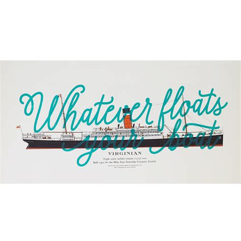 whatever floats your boat lines new art prints v a shop