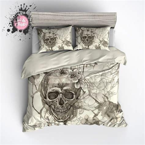 schlafzimmer ideen totenkopf featherweight beige skull bedding sugar skull with