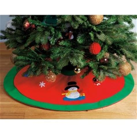 christmas tree stand cover skirt snowman design amazon co