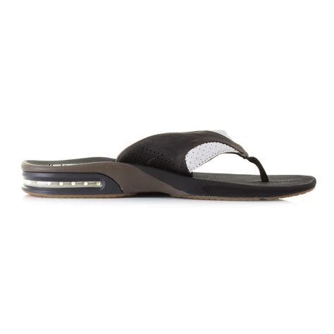 reef sandals with bottle opener mens reef leather fanning white brown bottle opener