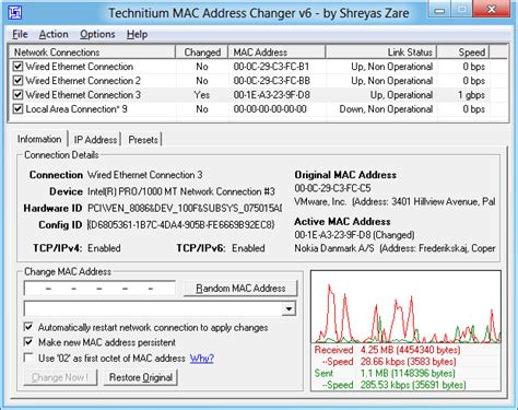 amac address change technitium mac address changer a freeware utility to