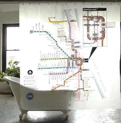 cta shower curtain chicago cta shower curtain maps travel illustrations