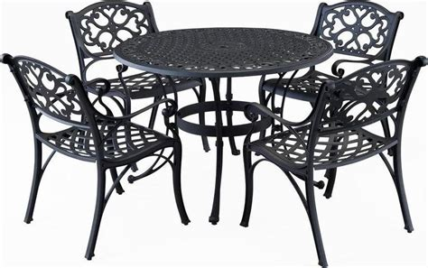42 inch patio table biscayne 42 inch cast aluminum outdoor dining set with 4
