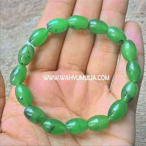 Gelang Batu Giok Hijau gelang batu giok hijau asli kode 273 wahyu mulia