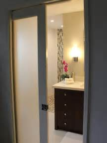 Modern Bathroom Doors Contemporary Frosted Pocket Bathroom Door Designers Portfolio Hgtv Home Garden Television
