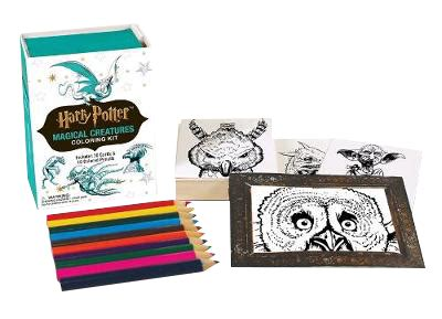 harry potter coloring book waterstones harry potter magical creatures coloring kit by running