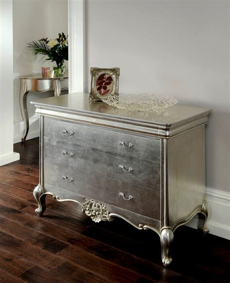 Cristal Silver Leaf French Furniture   Eclectic