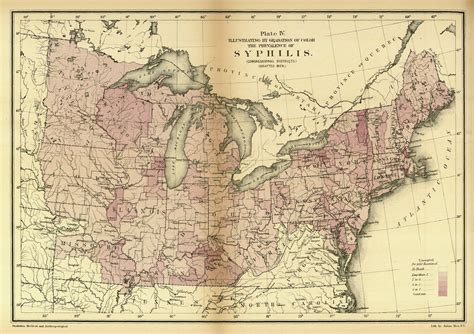 civil war usa map for philandering time travelers a map of syphilis during