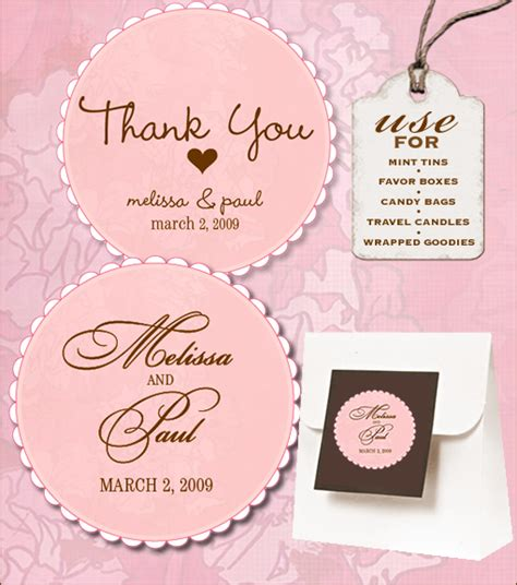 wedding favor tag template printable sweet retro free wedding labels
