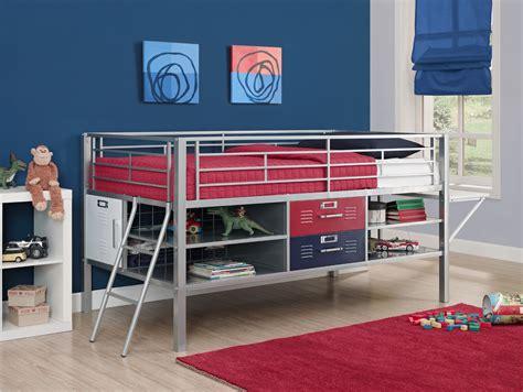 locker bed dorel home furnishings junior silver bed with locker