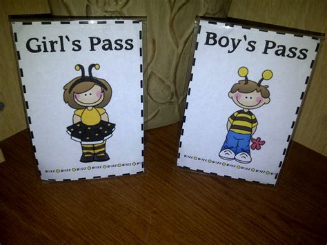 bathroom pass ideas grade o w l s buzz to the bathroom passes
