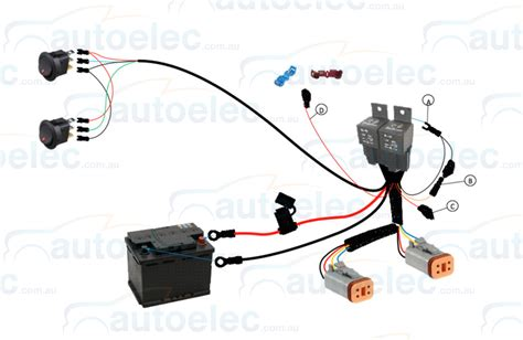 genuine lightforce dual switch relay wiring harness kit