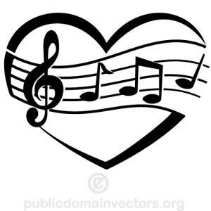 Superior Church Songs For Kids List #5: Heart-border-clipart-black-and-white-love-music-publicdomainvect.jpg