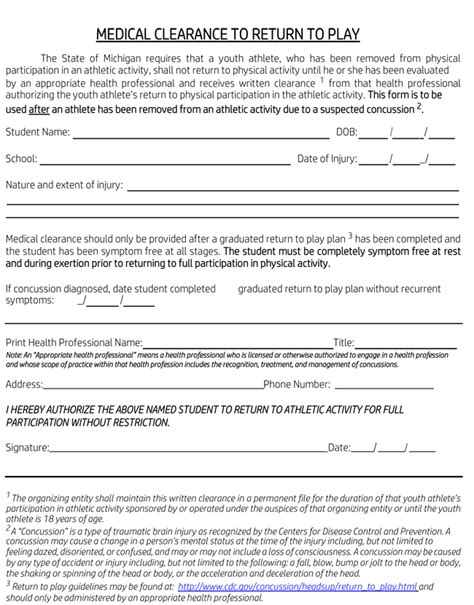 Permission Letter To Participate In Sports Clearance Form Sles 10 Best Templates And Formats