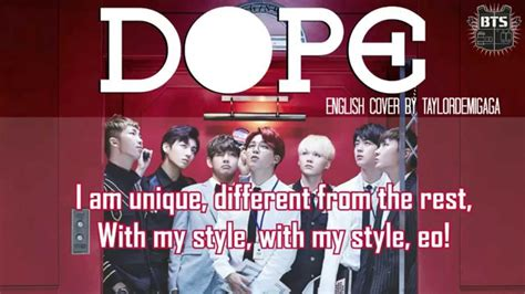 bts dope mp3 download k2ost bts 방탄소년단 dope 쩔어 english cover by janny youtube