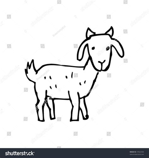 how to draw new year goat drawing of a goat stock vector illustration 47822500